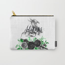 Always Green and Black Carry-All Pouch