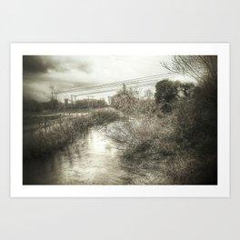 Whimsical Water Landscape Art Print