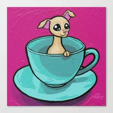 Chihuahua in a Teacup Canvas Print