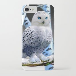 Blue-eyed Snow Owl iPhone Case