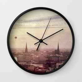 Hamburg sunrise Wall Clock
