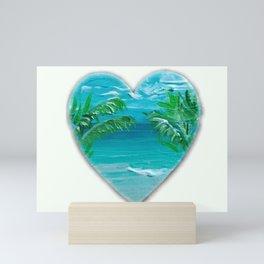Florida, beach with palms~Ocean Love Mini Art Print