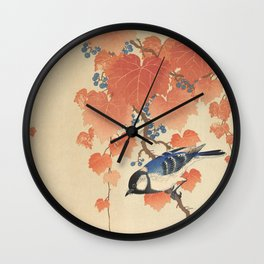 Ohara Koson - Japanese Bird Blockprint Wall Clock