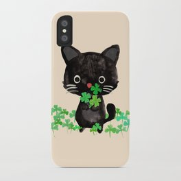 The Luckiest Cat iPhone Case