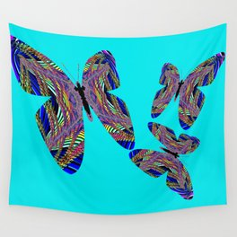 Butterfly Blue Wall Tapestry