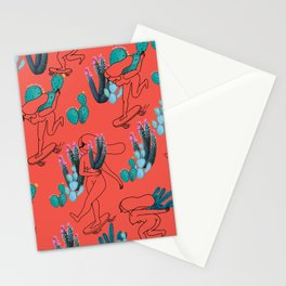 Picking cactus Stationery Cards