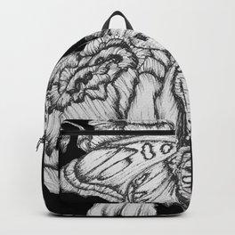 Black Fluttering Ink II Backpack