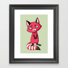 Shy Raccoon Framed Art Print