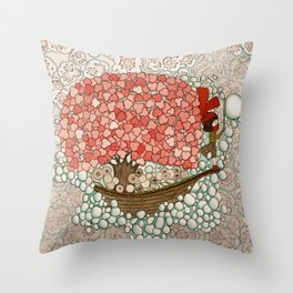 Bubble Waves Throw Pillow