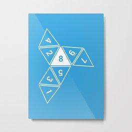 Blue Unrolled D8 Metal Print