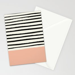 Peach x Stripes Stationery Cards