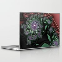 novelty Laptop & iPad Skins featuring Lilac Fractal Garden by Moody Muse