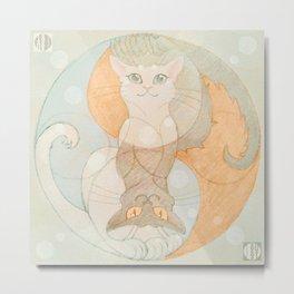Good Cats Metal Print