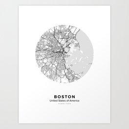Boston Circle Map Art Print