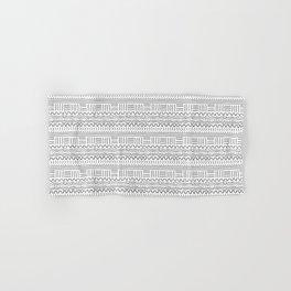 Mud Cloth on White Hand & Bath Towel
