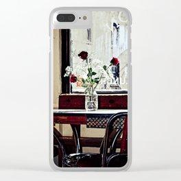 Cafe Break Clear iPhone Case