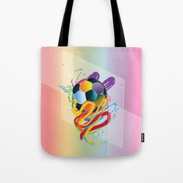 Brush strokes and soccer ball Tote Bag