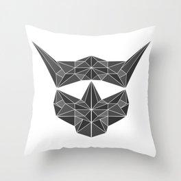 lowpolycybercat Throw Pillow