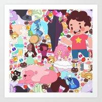 steven universe Art Prints featuring Steven Universe by Velvetcat09