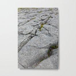 Poulnabrone Stone Texture Metal Print