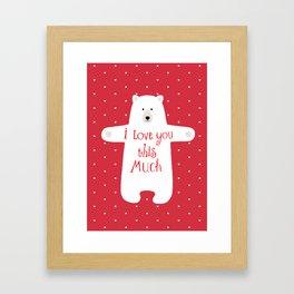 Bear hugs Framed Art Print