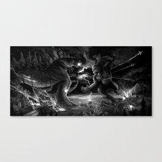 Godzilla vs Kingkong Canvas Print