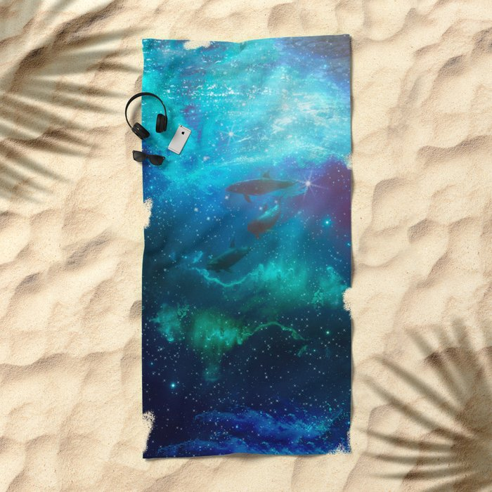 Mystic dolphins Beach Towel