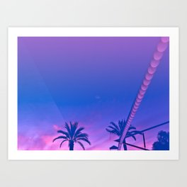 Palms And Sunset With Reverberation - Abstract Landscape Photography Art Print