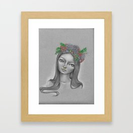 Flora Doll Framed Art Print
