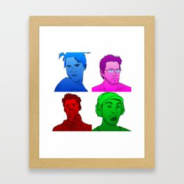 YouTuber Collage Framed Art Print