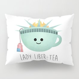 Lady Liber-tea Pillow Sham
