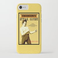 parks and recreation iPhone & iPod Cases featuring Ron Swanson  |  Steak House Parody |  Parks and Recreation by Silvio Ledbetter
