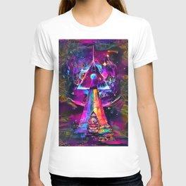 Psycodelic travel to the Moon T-shirt