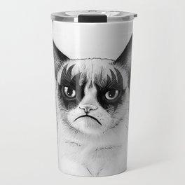 Grumpy Simmons Cat Whimsical Funny Animal Music Travel Mug