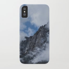 Mountain through Clouds // Landscape Photography iPhone Case