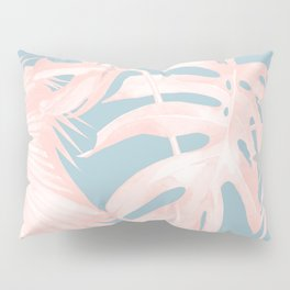 Island Love Millennial Pink on Pale Teal Blue Pillow Sham