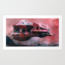 Red mother ship Art Print