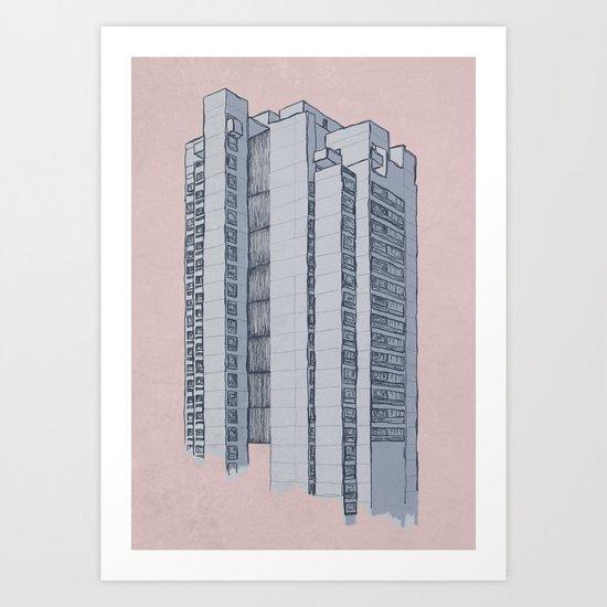 Brutalist Architecture Apartment Block Art Print