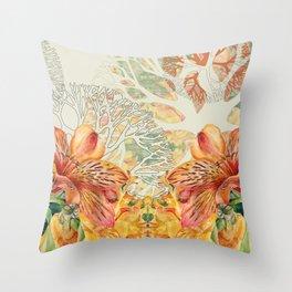 Alstroemeria 2 Throw Pillow