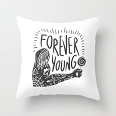 Forever youg 1 Throw Pillow