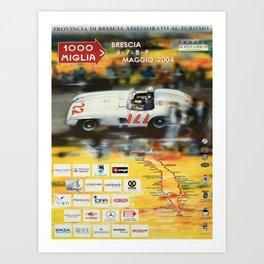 vintage poster 1000 miglia brescia v affiche Art Print