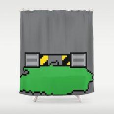Teenage Mutant Ninja Pixels Shower Curtain