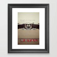 If. Framed Art Print