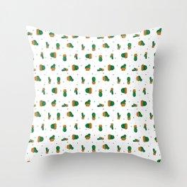 Cactus Majeran pattern Throw Pillow