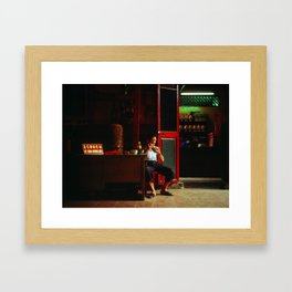 Lunch at the temple, Ho Chi Minh City, Vietnam Framed Art Print