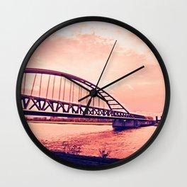 Over the Bridge Wall Clock
