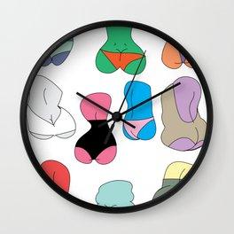 But butt Wall Clock