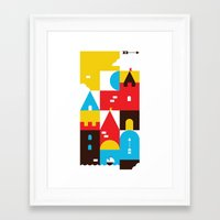 castle Framed Art Prints featuring Castle by koivo
