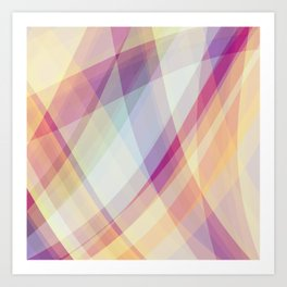 Pastel Madness Art Print