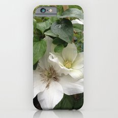 white flowers iPhone 6s Slim Case